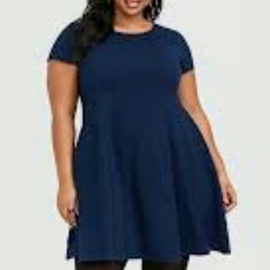 4X Torrid Navy Sweater Dress